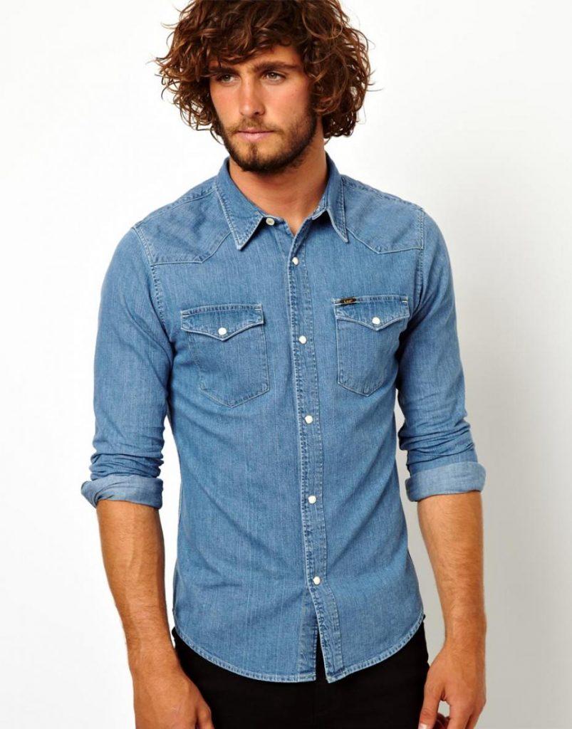 chemise en jean homme attention au look cowboy. Black Bedroom Furniture Sets. Home Design Ideas