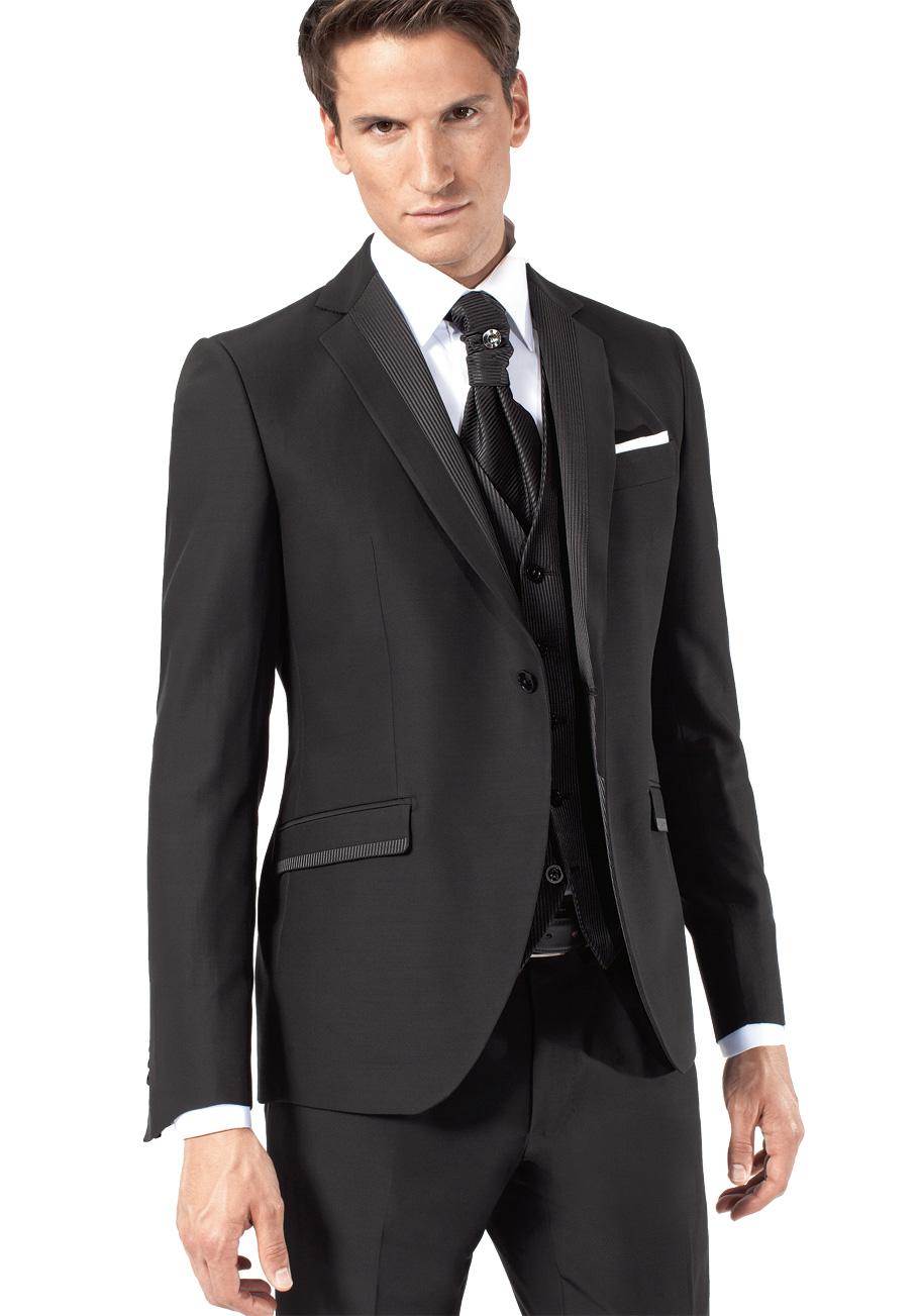 Costume mari noir et chemise blanche - Costume noir chemise noir ...