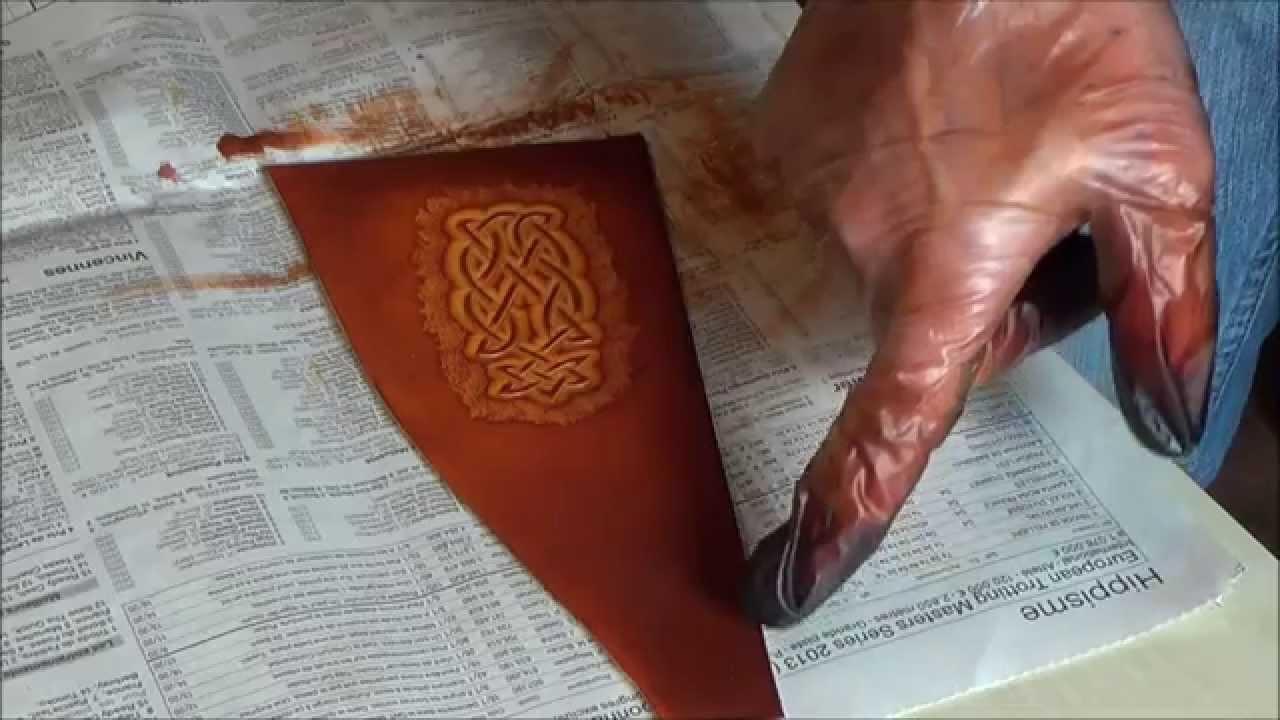 teinter cuir